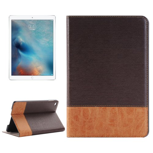 """For iPad Pro 12.9"""" Brown Sheepskin Leather Case with Holder, Card Slots & Wallet"""