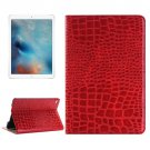 "For iPad Pro 12.9"" Red Crocodile Leather Case with Holder, Card Slots & Wallet"