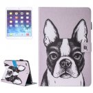 For iPad Air 2/iPad 6 Bulldog Pattern Leather Case with Holder, Card/Pen Slots & Wallet