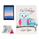 For iPad Air 2/iPad 6 Owls Pattern Flip Leather Case with Holder & Card Slots & Wallet