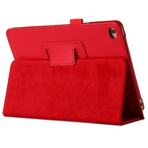 """For iPad Pro 12.9"""" Red Litchi Texture Flip PU Leather Protective Case with Holder"""