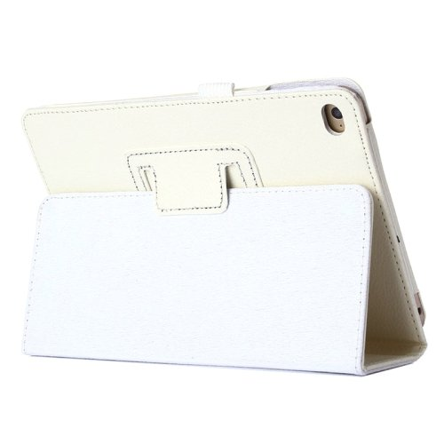 "For iPad Pro 12.9"" White Litchi Texture Flip PU Leather Protective Case with Holder"