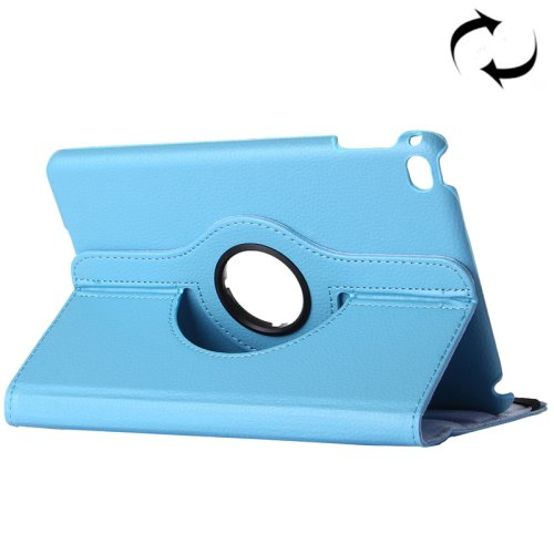 """For iPad Pro 12.9"""" Blue Litchi Smart Cover Leather Protective Case with Rotating Holder"""