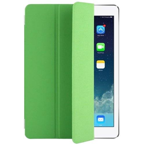 """For iPad Pro 9.7"""" Green Single Side Polyurethane Smart Cover with 3-Folding Holder"""
