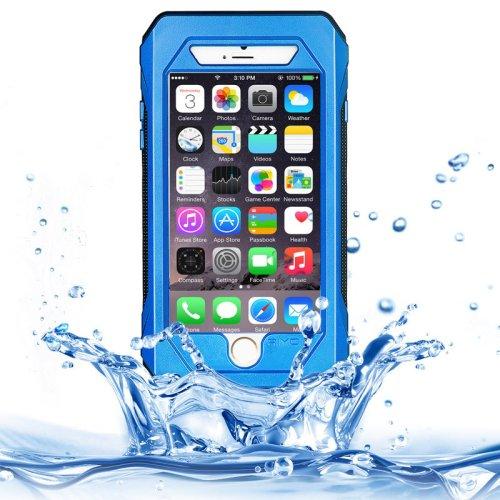 iPhone 6 Plus Blue RIYO IP68 Waterproof Shockproof Dustproof Snowproof Case with Holder & Lanyard