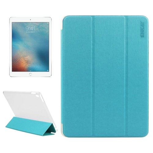 "For iPad Pro 9.7"" Blue Enkay Toothpick Smart Cover Leather Case with 3-Folding Holder"