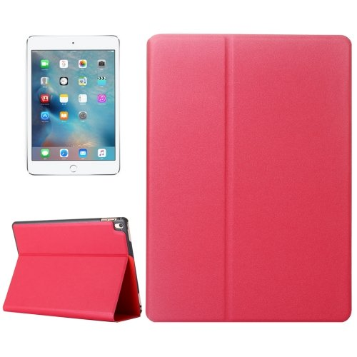 """For iPad Pro 9.7"""" Red Frosted Texture Flip Solid Color Leather Case with Holder"""
