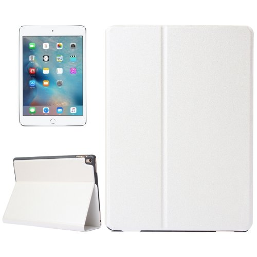 """For iPad Pro 9.7"""" White Frosted Texture Flip Solid Color Leather Case with Holder"""