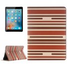 "For iPad Pro 9.7"" Color Matching Brown Leather Case with Card Slots, Holder & Wallet"