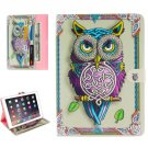 "For iPad Pro 9.7"" Owl Pattern Flip Leather Case with Holder, Card Slots & Wallet"