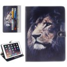 "For iPad Pro 9.7"" Lion Pattern Flip Leather Case with Holder, Card Slots & Wallet"