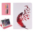 """For iPad Pro 9.7"""" Feather Pattern Flip Leather Case with Holder, Card Slots & Wallet"""