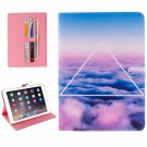 "For iPad Pro 9.7"" Cloud Pattern Flip Leather Case with Holder, Card Slots & Wallet"