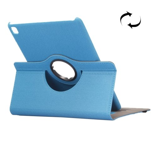 "For iPad Pro 9.7"" Blue Cloth Smart Cover Leather Case with Rotating Holder, Card Slots"