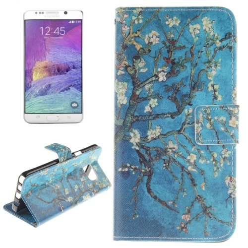 For Galaxy Note 5 Blossom 2 side Leather Case with Card Slots, Holder & Wallet