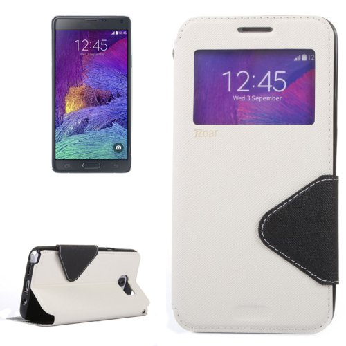 For Galaxy Note 5 White Cross Flip Leather Case with Holder & Card Slot