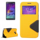 For Galaxy Note 5 Yellow Cross Flip Leather Case with Holder & Card Slot