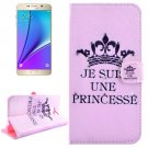 For Galaxy Note 5 Princess Diamond Leather Case with Holder, Wallet & Card Slots