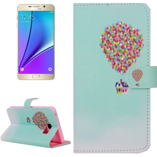 For Galaxy Note 5 Balloon Diamond Leather Case with Holder, Wallet & Card Slots
