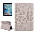 "For iPad Pro 9.7"" Gold Crocodile Flip Leather Case with Holder & Card Slots & Wallet"