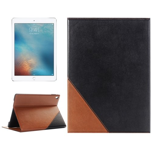 """For iPad Pro 9.7"""" Black Book Style Leather Case with Holder & Card Slots & Wallet"""