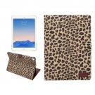 "For iPad Pro 9.7"" Yellow Leopard Leather Smart Case with Holder, Card Slots & Wallet"