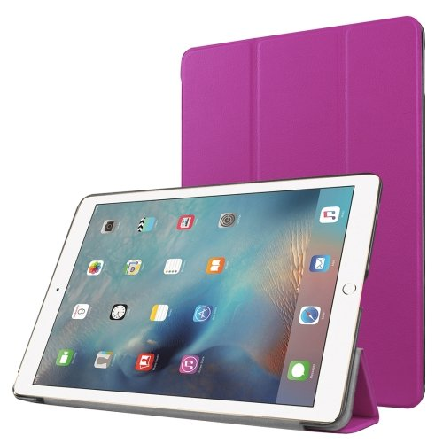 "For iPad Pro 9.7"" Purple Custer Flip Leather Smart Case with 3 Folding Holder"