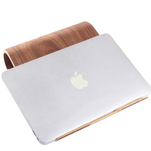 For iPad SamDi Artistic Wood Grain Walnut Desktop Heat Radiation Holder Stand Cradle