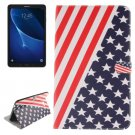 For Tab A 10.1/T580 US Flag Pattern Leather Case with Holder, Card Slots & Wallet