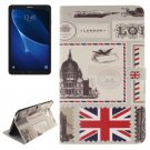 For Tab A 10.1/T580 UK Pattern Leather Case with Holder, Card Slots & Wallet