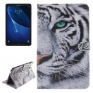For Tab A 10.1/T580 Double side Tiger Leather Case with Holder, Card Slots & Wallet