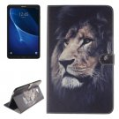 For Tab A 10.1/T580 Double side Lion Leather Case with Holder, Card Slots & Wallet