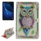 For Tab A 10.1/T580 Double side Owl Leather Case with Holder, Card Slots & Wallet