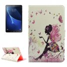 For Tab A 10.1/P580 Fairy 2 Pattern Diamond Leather Case with Holder
