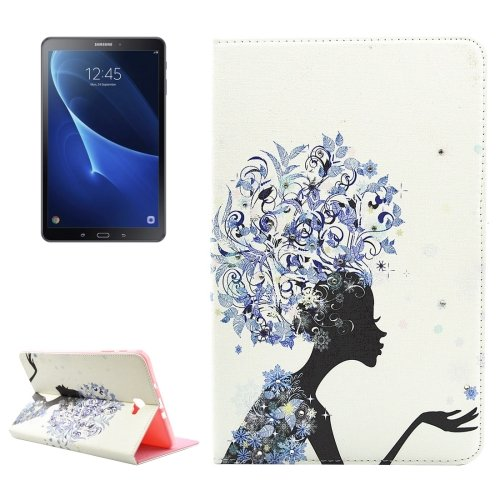 For Tab A 10.1/P580 Headwear Pattern Diamond Leather Case with Holder