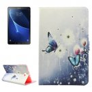 For Tab A 10.1/T580 Butterflies Pattern Diamond Leather Case with Holder