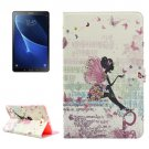 For Tab A 10.1/T580 Fairy Pattern Diamond Leather Case with Holder