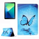 For Tab A 10.1/P580 Butterfly Pattern Leather Case with Holder, Card Slots & Wallet