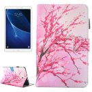For Tab A 10.1/T580 Blossom Pattern Flip Leather Case with Holder & Card/Pen Slots