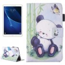 For Tab A 10.1/T580 Panda Pattern Flip Leather Case with Holder & Card/Pen Slots
