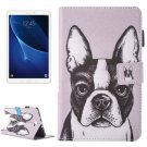 For Tab A 10.1/T580 Bulldog Pattern Flip Leather Case with Holder & Card/Pen Slots