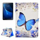 For Tab A 10.1/T580/85 Butterfly Pattern Flip Leather Case with Holder, Card Slots & Wallet