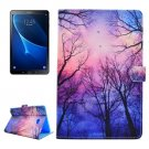 For Tab A 10.1/T580/85 Star Sky Pattern Flip Leather Case with Holder, Card Slots & Wallet