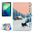 For Tab A 10.1/P580 Snow Wolf Pattern Flip Leather Case with Holder, Card Slots & Wallet