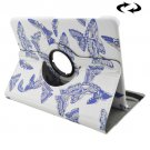 For Tab S2 9.7/T815 Butterflies Pattern Leather Case with 360° Rotating Holder