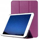For Tab S2 9.7/T815 Purple Custer Texture Leather Case with 3-Folding Holder