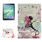 For Tab S2 9.7/T815 Butterfly Fairy Diamond Flip Leather Case with Holder