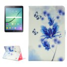 For Tab S2 9.7/T815 Flower Diamond Flip Leather Case with Holder