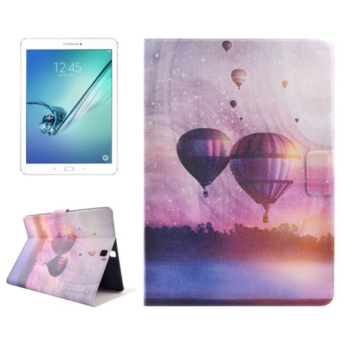 For Tab S2 9.7/T815 Fire Balloon PC + PU Leather Case with Holder & Card Slots
