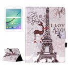 For Tab S2 9.7/T815 Deer Flip Leather Case with Holder, Card Slots & Wallet